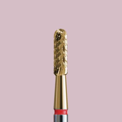 Frez z węglika ze złotą powłoką do skórek